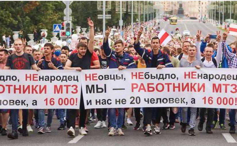 Běloruská revoluce: žádnou důvěru elitám